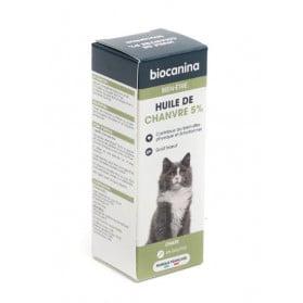 Biocanina Bien-être Chats Huile de chanvre 5 % 10ml