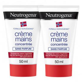 Neutrogena® Formule Norvégienne® Crème Mains Concentrée Non Parfumée Lot de 2 x 50ml