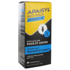 Apaisyl Shampooing Poux et lentes lotion 100ml + Peigne