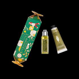 L'occitane Cracker de Noël Soins Corps Verveine
