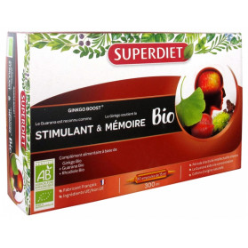 Super Diet Ginkgo Boost Bio 20 Ampoules