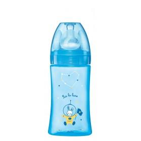 Dodie Biberon Initiation + Tétine Débit 2 Bleu Décoré 270 ml