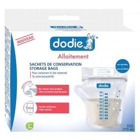Dodie Sachet de Conservation x20 Transparent