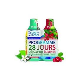 Arkopharma 4321 Minceur Programme 28 Jours 1 Detox, 1 Draineur Acérola 2 Bouteilles de 280 ml