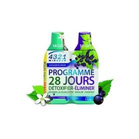 Arkopharma 4321 Minceur Programme 28 Jours 1 Detox, 1 Draineur Cassis 2 Bouteilles de 280 ml
