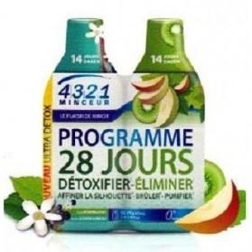 Arkopharma 4321 Minceur Programme 28 Jours 1 Detox, 1 Draineur Pomme Kiwi 2 Bouteilles de 280 ml