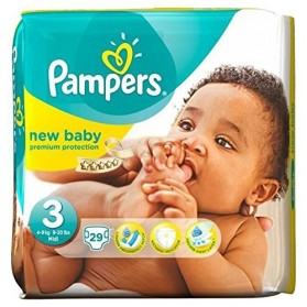 PAMPERS New Baby T3 Midi 4-9 kg 29 couches