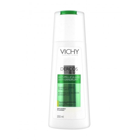 Vichy Dercos Shampooing Traitant Anti-Pelliculaire Cheveux Secs 200 ml