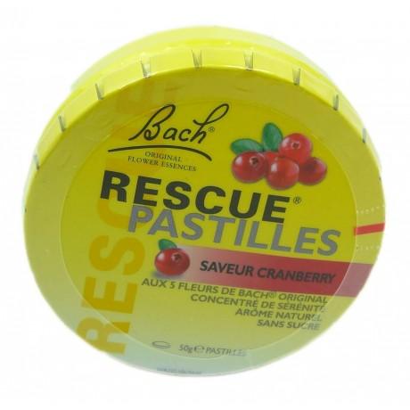 Fleurs de bach Rescue pastilles cranberry boite de 20