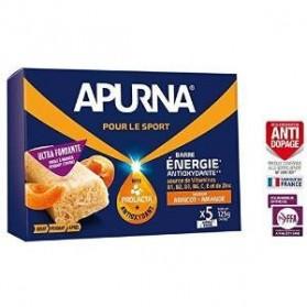 APURNA Barre Energie Anti-Oxydante Abricot Amande boite de 5x25g