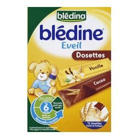 BLEDINA Céréales Blédine Dosettes 12x20 g 6 mois, Vanille/Cacao