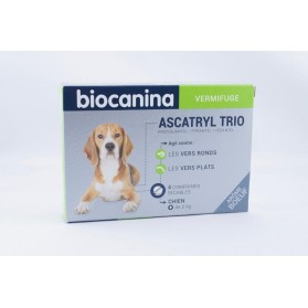 Biocanina Ascatryl Trio Vermifuge Chien 10 kg boite de 4 comprimés
