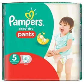 PAMPERS Baby-Dry Pants Couches Taille 5 (Junior) 12-18 kg x 21