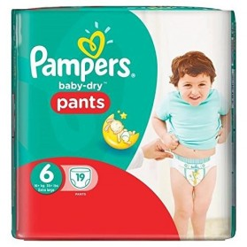 PAMPERS Baby-Dry Pants Couches Taille 6 (Extra Large) 16 kg et + x 19