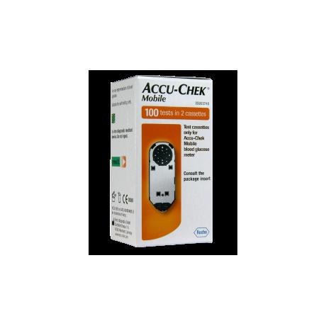 Accu-Chek Mobile Test Cassettes boite de 100 tests dans 2 cassettes