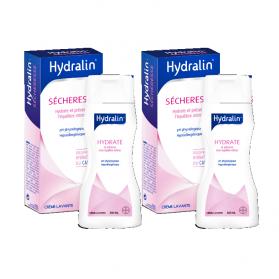 Hydralin Sécheresse Crème lavante, 2x200ml