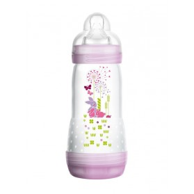 Mam Easy Start Biberon Anti-Colique 320 ml 0 Mois + Rose