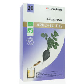Arkopharma Arkofluide bio radis noir boite de 20 ampoules