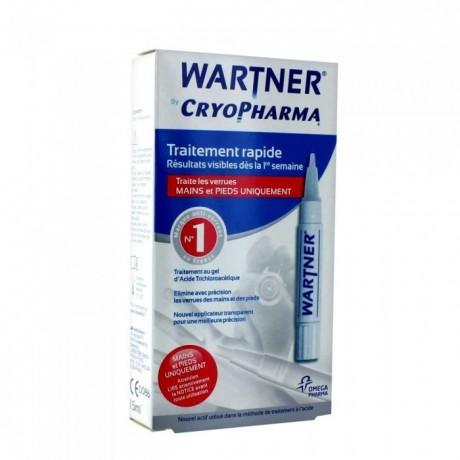 Wartner by Cryopharma Traitement Rapide des Verrues Mains et Pieds