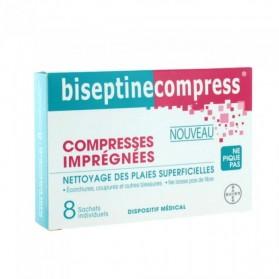BAYER Biseptinecompresse boite de 8 compresses imprégnées