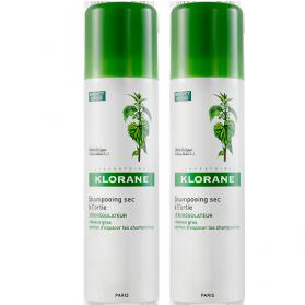 KLORANE Shampooing sec ortie 2x150ml