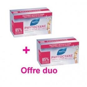 Phyto Phytocyane Soin Antichute Stimulateur de croissance 12 x 7,5ml offre DUO