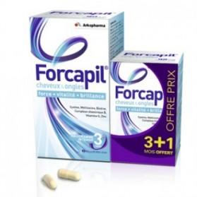 Forcapil Cheveux et Ongles lot 180 + 60 capsules