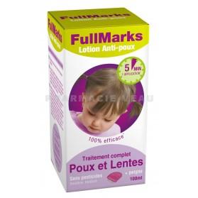 FULL MARKS SPRAY Anti-poux et Lentes 150 ml + peigne à poux
