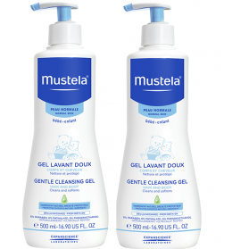 MUSTELA Gel Lavant Doux Flacon Pompe lot 2x500ml