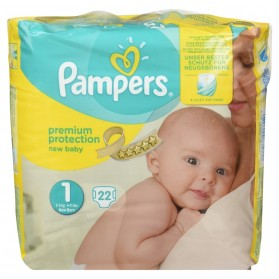 Pampers New Baby Premium Protection Taille 1 New Born 2-5Kg 22 couches