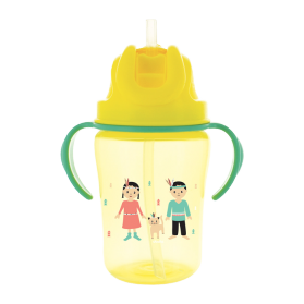 DODIE Tasse paille jaune +18 mois, 350ml