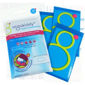 ORGAKIDDY Hygiène Pockets Jetable - Protèges cuvette de toilettes, 10 unités