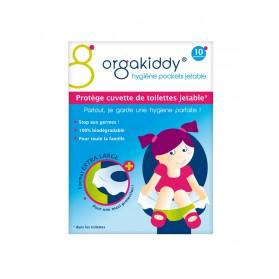 Orgakiddy Protège Cuvette de Toilettes Jetables 10 Protèges Cuvette