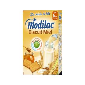 Céréales Modilac Biscuit miel 300g