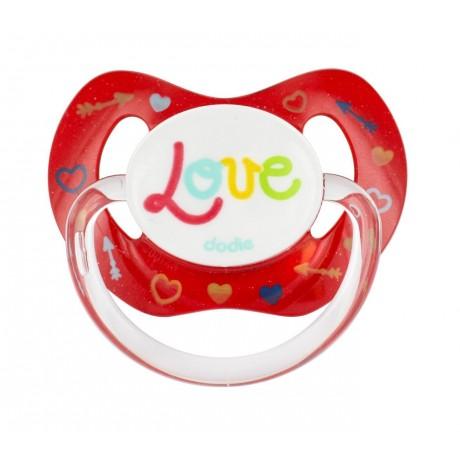 DODIE Love P61 Sucette Physiologique avec 3 Décors Aléatoires Silicone 18+ Mois