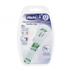 Chicco Attache Sucette Ruban avec Protection Tétine X1 Phosphorescent Vert et Blanc