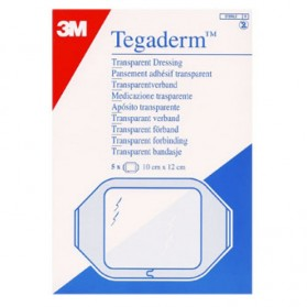 3M TEGADERM 5 PANSEMENTS ADHESIFS TRANSPARENTS 10CM X 12CM