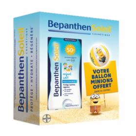 BepanthenSoleil Coffret Les Minions Lait Solaire Enfant SPF 50+ 200ml + Ballon Minions Offert