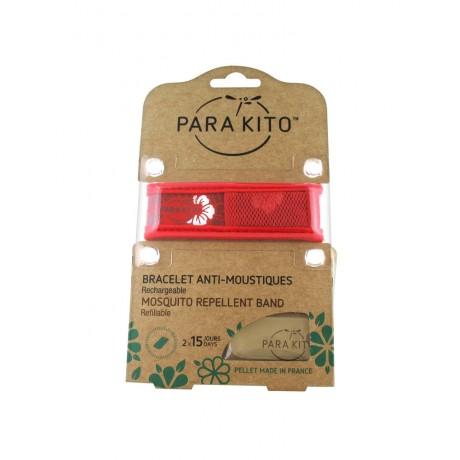 PARA'KITO - Bracelet Antimoustiques rouge Hawai