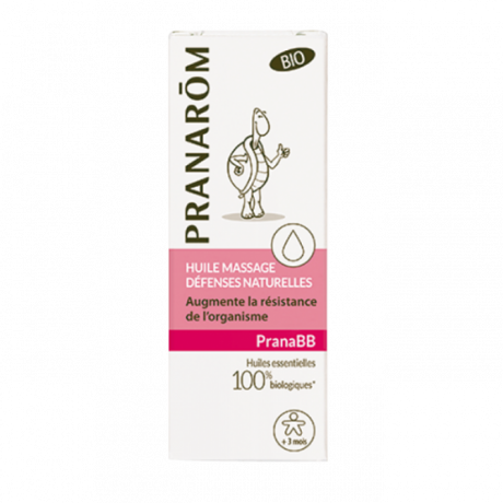 PRANAROM - PRANABB - Huile de massage défenses naturelles, 10ml