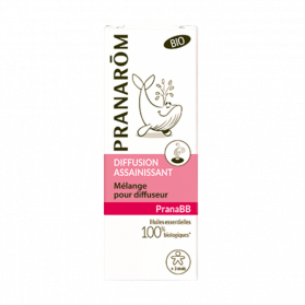PRANAROM - PRANABB - Diffusion assainissant mélange pour diffuseur, 10ml
