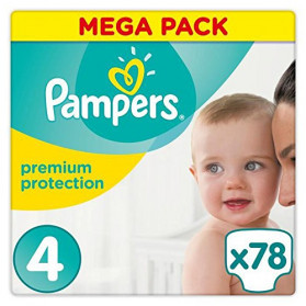 Pampers Premium Protection Taille 4 ( 8-16kg ) Pack de 78 couches