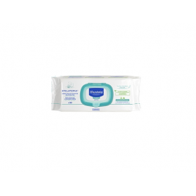 MUSTELA STELATOPIA Lingettes nettoyantes relipidantes Paquet de 50 lingettes