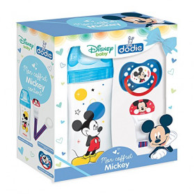DODIE Initiation+ Coffret Biberon Mickey/Sucette 330 ml