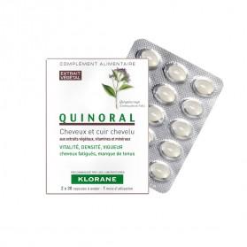 Klorane Quinoral Complément Alimentaire Cheveux et Cuir Chevelu Lot de 3