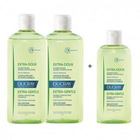 Ducray extra doux shampooing duo 2x400ml+ 200ml OFFERT