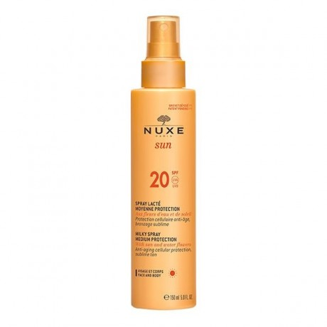 Nuxe Sun Spray Lacté Visage et Corps Moyenne Protection SPF20 150 ml