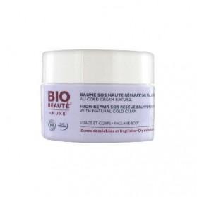 Bio Beauté Baume SOS Haute Réparation Peaux Sensibles au Cold Cream Naturel 50 ml