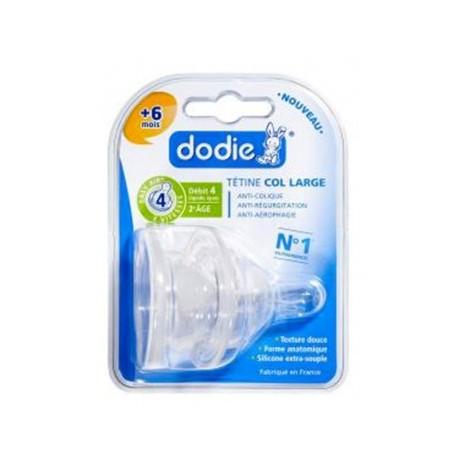 Dodie Tétine Col Large Evolution+ 3 vitesses Débit 4 liquide épais