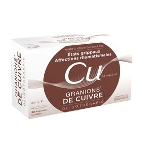 Granions de Cuivre 0,3 mg / 2ml solution buvable 30 ampoules